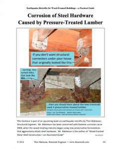 Pressure Treated Lumber Corrosion
